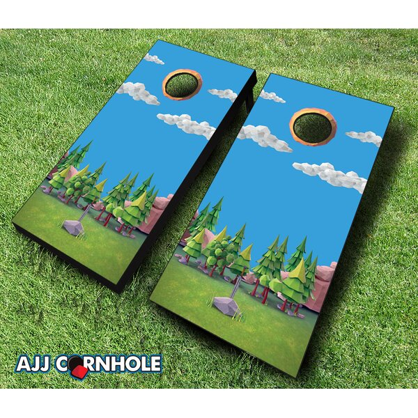 Sword in Stone Cornhole Set by AJJ Cornhole