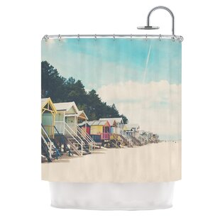 Compare Small Spaces by Laura Evans Beach Coastal Shower Curtain By East Urban Home