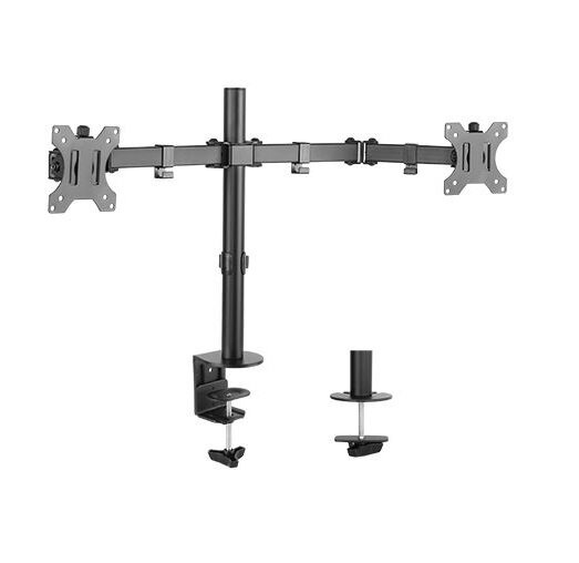Monitor Articulating Stand Universal 2 Screen Desk Mount by Uplite