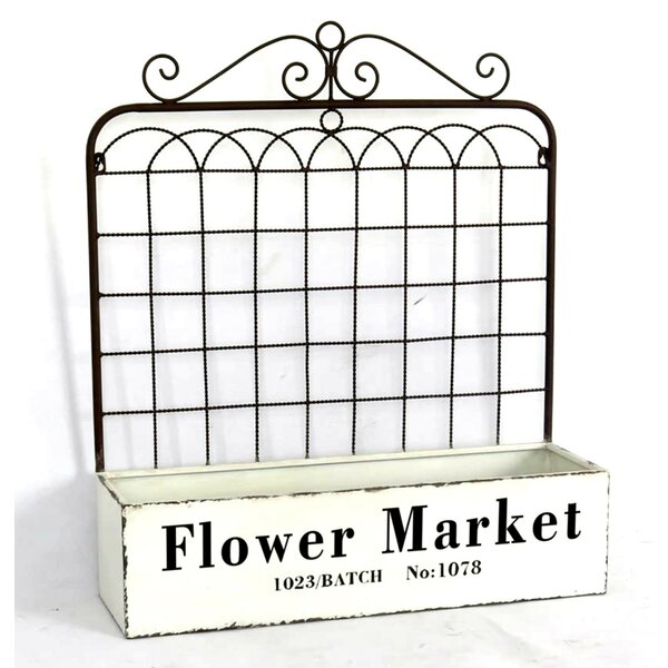 Ukee Flower Market Gate Metal Wall Planter with Trellies by Gracie Oaks