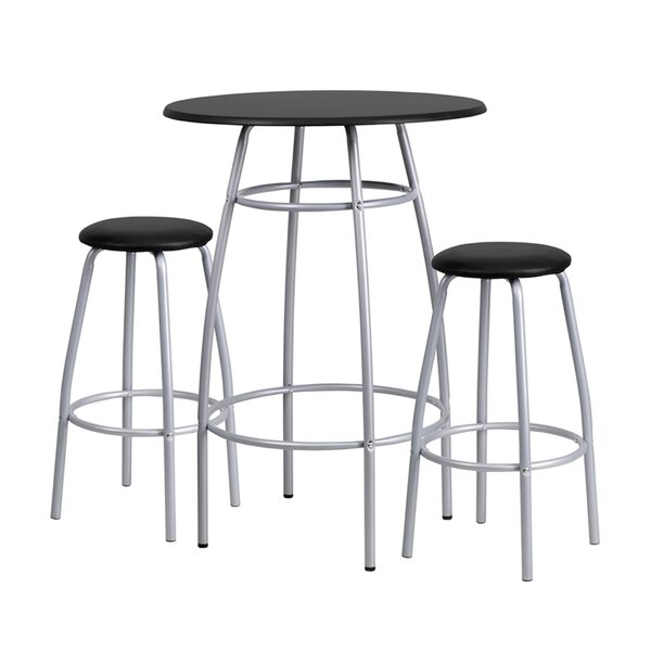 Shirli 3 Piece Bar Height Dining Set By Ebern Designs