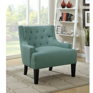 Holmquist Wood and Polyfiber Armchair by Charlton Home