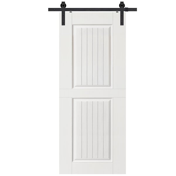 Solid Manufactured Wood Panelled MDF Interior Barn Door by Barndoorz