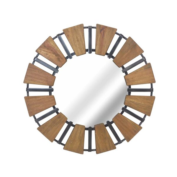 Wood Mirror with Metal Accents by Sagebrook Home