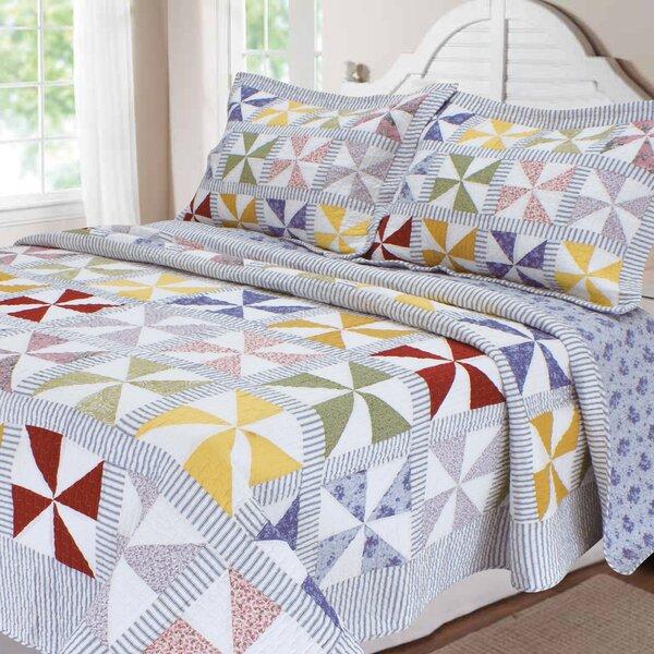 reversible comforter piece adec chezmoi ip garden washed king floral patchwork set cotton vintage collection quilt