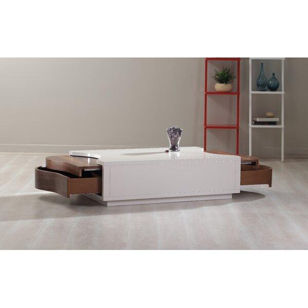 213 Plus Extendable Floor Shelf Coffee Table with Storage by La Viola D??cor La Viola D??cor