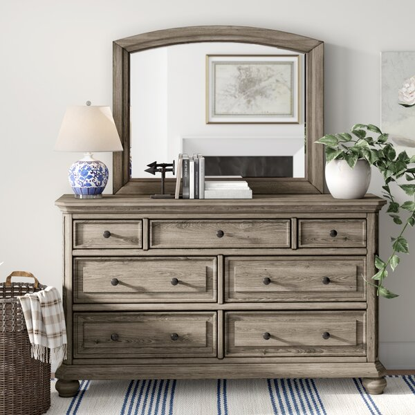 Thames 7 Drawer Dresser with Mirror by Three Posts Three Posts