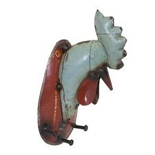 Regina Rooster Wall Hook by Woodland Imports