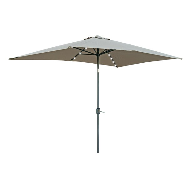 Bangert 10' X 6.5' Rectangular Lighted Umbrella By Wade Logan by Wade Logan Comparison