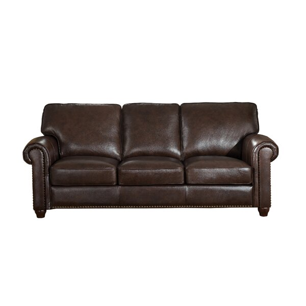 Kiaan Craft Leather Sofa by Darby Home Co