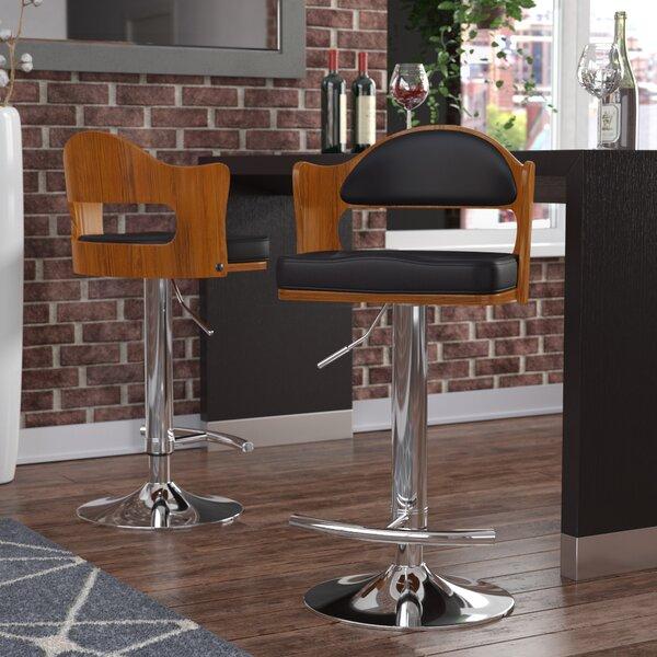 Cherryville Adjustable Height Swivel Bar Stool by Wade Logan
