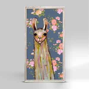 'Baby Llama' Framed Print on Canvas by Ebern Designs