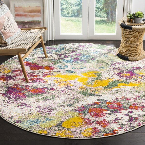 Shankle Green/Red Area Rug by Wrought Studio
