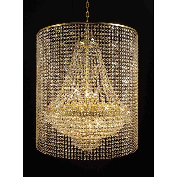 Montana 9-Light Unique / Statement Empire Chandelier By House Of Hampton