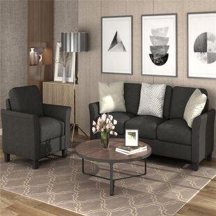 Bassano 2 Piece Living Room Set (Set of 2) by Red Barrel Studio®