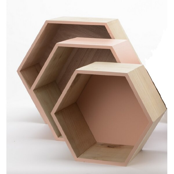 Basic Luxury 3 Piece Hexagonal Shadow Box Set by Northlight Seasonal