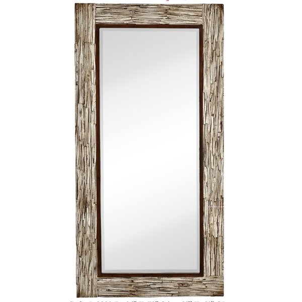 Large white wooden mirror bathroom unique spiky ceiling for Large white framed mirror