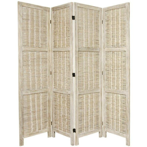 Lynn Matchstick 4 Panel Room Divider by World Menagerie