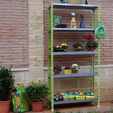 "Garden 70.9"" H x 35.4"" W Shelving Unit Simon Rack"