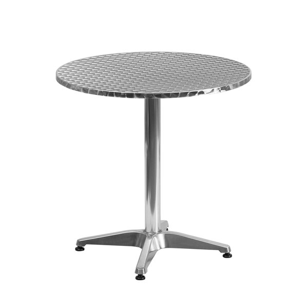 Tiberius Round Indoor Outdoor Aluminum Bistro Table by Ebern Designs