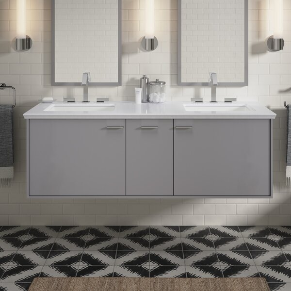 Jute Tones 62 Wall-Mounted Double Bathroom Vanity Set by Kohler