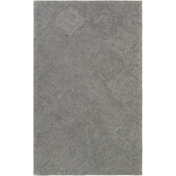 Bloch Hand-Tufted Charcoal/Gray Area Rug by Wrought Studio