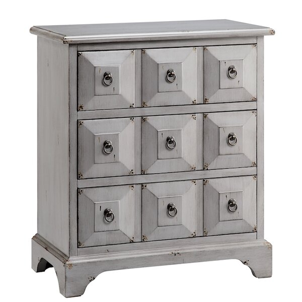 Gianna 3 Drawer Apothecary Accent Chest by August Grove August Grove