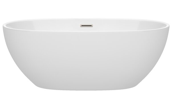 Juno 63 x 32 Freestanding Soaking Bathtub by Wyndham Collection