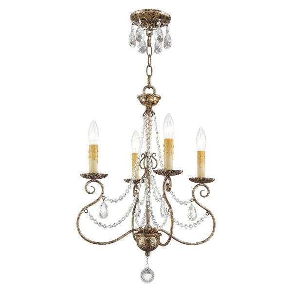 Charley 4-Light Candle Style Classic / Traditional Chandelier By Astoria Grand