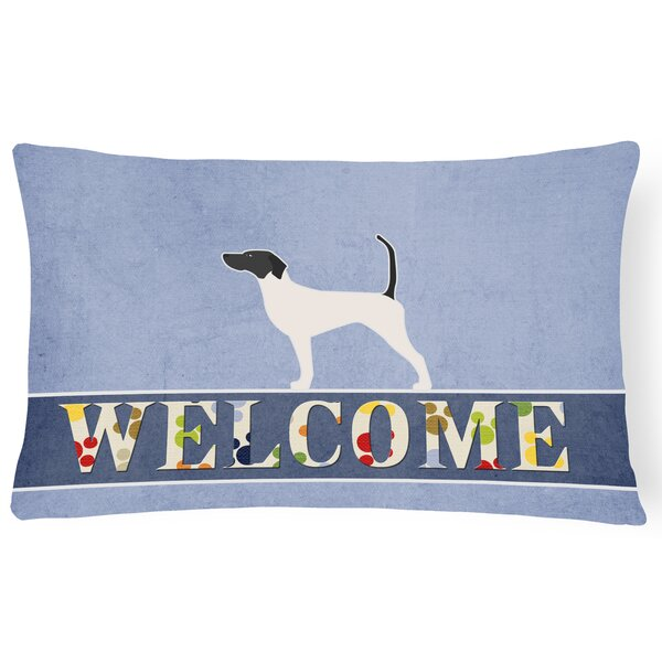 Carlton English Pointer Welcome Lumbar Pillow by Red Barrel Studio