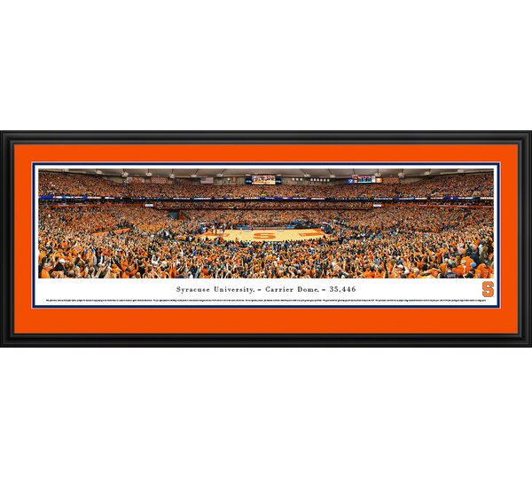 NCAA Syracuse University by Christopher Gjevre Framed Photographic Print by Blakeway Worldwide Panoramas, Inc