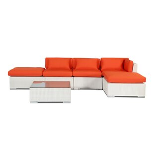 Poipu 6 Piece Sectional Set with Cushions