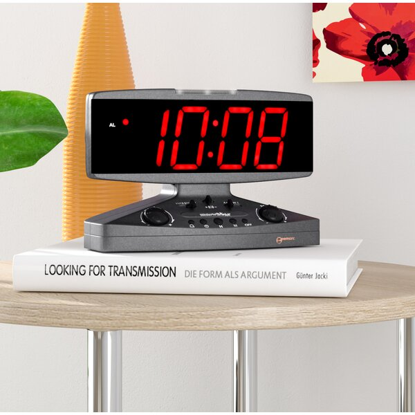 Wake Up Call Alarm Tabletop Clock by Symple Stuff