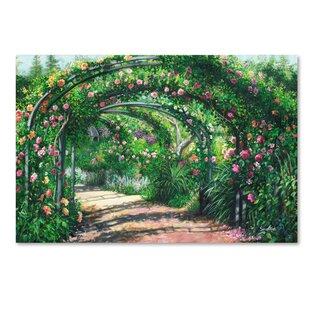 U0027Rose Garden Archesu0027 Print On Wrapped Canvas