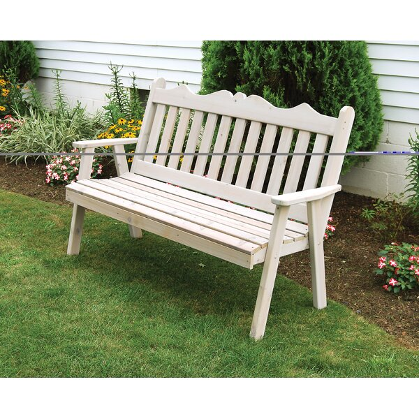 Nicholas English Wood Garden Bench by Red Barrel Studio Red Barrel Studio
