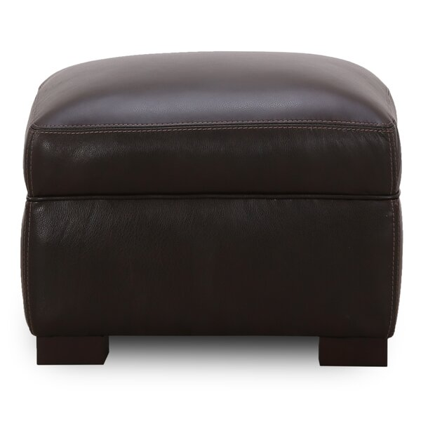 Dundonald Leather Ottoman by Latitude Run