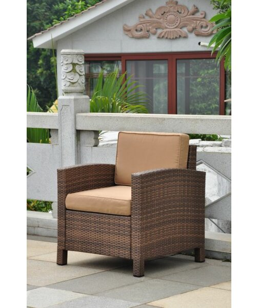 Katzer Patio Chair with Cushion by Brayden Studio
