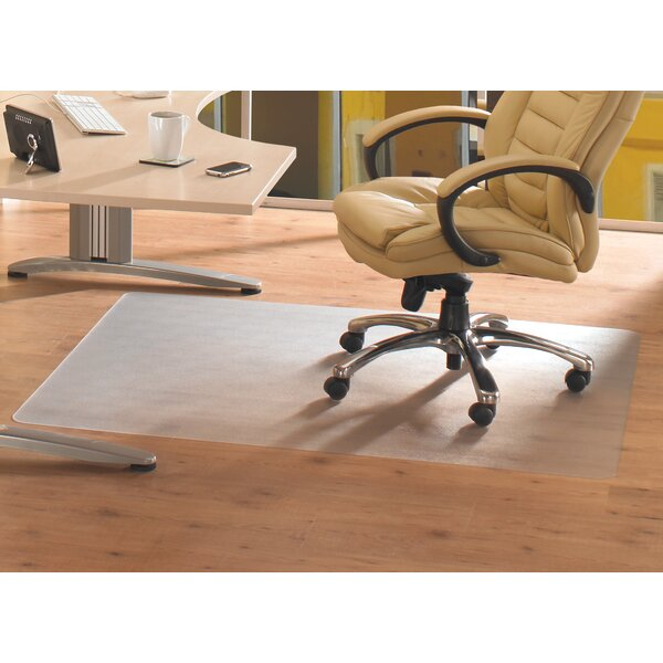 Anti-Microbial Advantagemat Hard Floor Straight Edge Chair Mat by Floortex