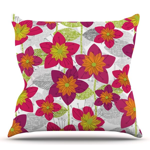 Star Flower by Jacqueline Milton Outdoor Throw Pillow by East Urban Home