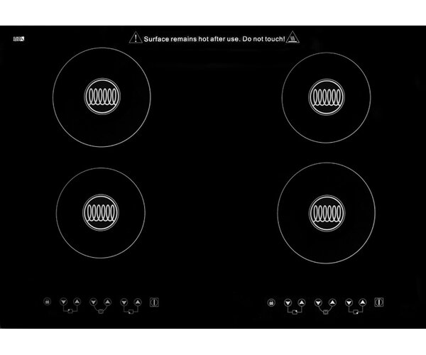Summit Built-In 30 Induction Cooktop with 4 Burners and Cookware Set by Summit Appliance