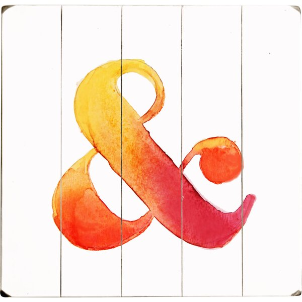 Ampersand Drawing Print Multi-Piece Image on Wood by Artehouse LLC