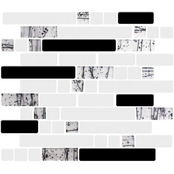 Signature Line Winter Forest 21 x 21 Glass Mosaic Tile in Black/Gray by Susan Jablon