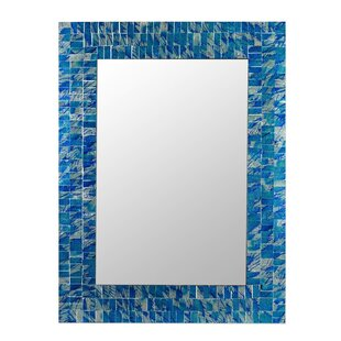 Novica 'Eternal Blue Sea' Mosaic Accent Mirror