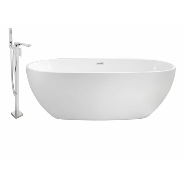 59 x 30 Freestanding Soaking Bathtub by Wildon Home ®
