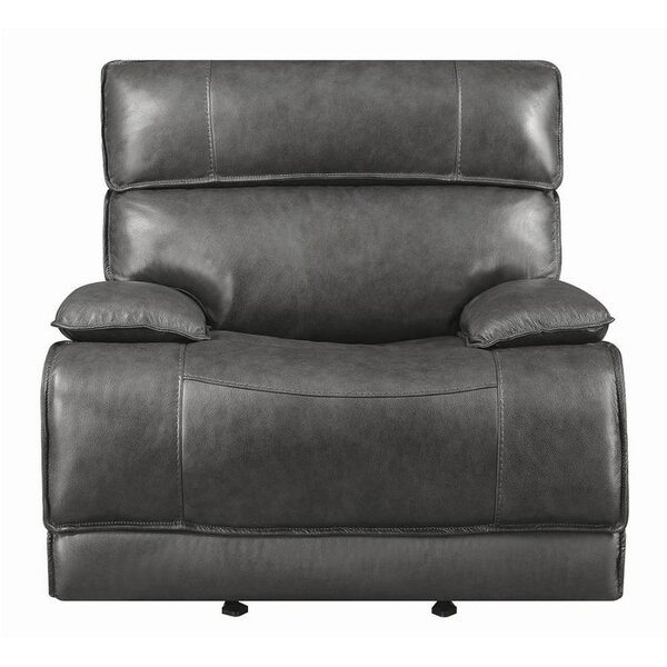 Caughfield Leather Glider Recliner by Latitude Run