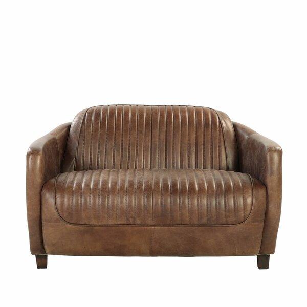 Deals Price Danville Leather Loveseat
