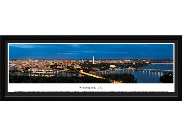 US skyline Washington, DC by James Blakeway Framed Photographic Print by Blakeway Worldwide Panoramas, Inc