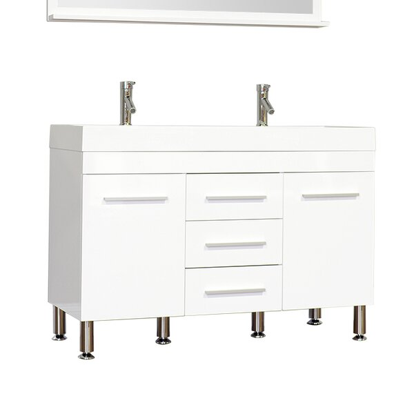Garett Modern 47 Double Bathroom Vanity Set by Wade Logan