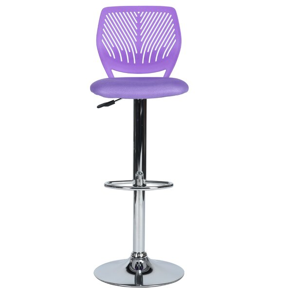 Edelman Adjustable Height Swivel Bar Stool by Ebern Designs