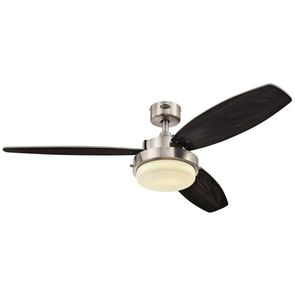 52 Corsa Two-Light Reversible Plywood 3 Blade Ceiling Fan by Mercury Row